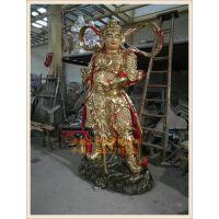 供应佛教护法韦陀菩萨像,生产韦陀菩萨厂家,正圆玻璃钢佛像