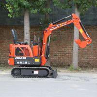 重量只有1吨的小型挖掘机 金鼎立多能农用小挖沟机