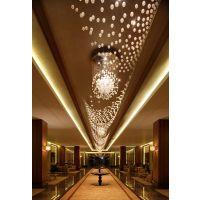 定制专业现代简约 吹制装饰玻璃LED灯 用于酒店大堂 会所 餐厅 写字楼等