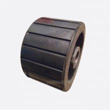 混凝土搅拌机耐摩擦橡胶托轮 滚筒搅拌机驱动轮 摩擦搅拌机滚轮