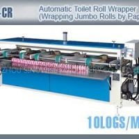 TZ-CR Automatic Toilet Tissue Paper Roll Packaging Machines Wrapping Jumbo Rolls By Paper