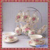 创意茶具套装 家用英式下午茶陶瓷咖啡杯具多色可选色
