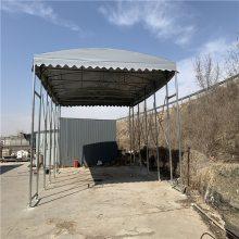 一个推拉伸缩雨棚蓬的加工制作,大型工业仓储棚适合工业山东省上门安装