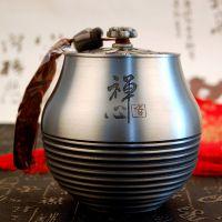 纯锡坊纯锡茶叶罐普洱茶罐定制家居办公实用礼品金属工艺品厂家直销