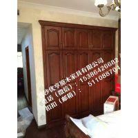 长沙实木家具厂-木蜡油工艺、整木实木木门订制十年品质—长沙衣柜