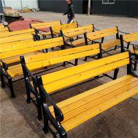 沧州风景广场木制座椅 实木座椅 公园长椅 公园排椅路椅 户外平凳 塑木长凳