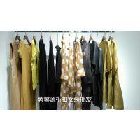 深圳一线品牌女装尾货批发 必然简约纯色棉麻折扣女装货源供应