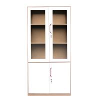 专利新品钢制玻璃门文件柜 办公柜铁皮柜 资料柜档案柜 储物柜办公家具