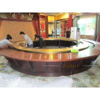 5.2米电动圆桌转盘 电动餐桌大转盘 变向变速电动转盘 高端定制