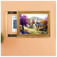 厂家直销 实木推拉画框 电表箱遮挡画 欧式实木有框装饰画 DX5971