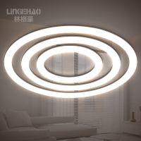 林格豪创意圆形圆环形餐厅客厅咖啡厅吧台北欧创意个性led吊灯具