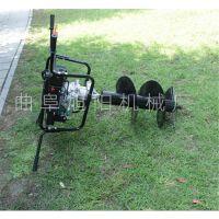 热销双人齿轮地钻电线杆子打洞机野外植树挖坑机汽油手提钻眼机
