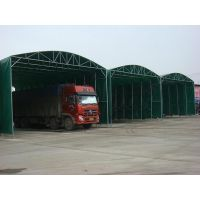合肥物流上下货挡雨大棚子移动带轮仓储篷活动货运篷折叠雨篷