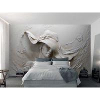 3d大型立体浮雕客厅电视背景墙墙纸壁纸 无缝墙布定制批发 一件代发