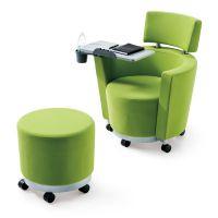 众晟家具休闲沙发椅 带写字板沙发 布艺高档会议培训椅批发