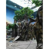 东莞的仿真植物大树 是用什么材质做的? 东莞企石浩晟采用健康环保对人体无害的PE材质做的