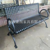 供应海南户外休闲椅 铸铁公园椅 优质钢制长椅价格
