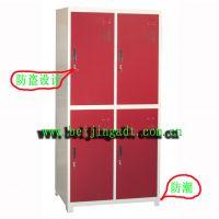 衣柜批发 北京厂家生产 钢制四门 防盗设计 储物柜 可以定做