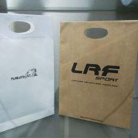 加工定制 白纸板/白卡纸/牛皮纸 方底袋扁平袋购物袋 手提袋 纸袋广东东莞印刷生产厂家批发低价格
