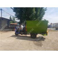 高效草料喂料机 柴油三轮撒料车 可自动上料喂料机