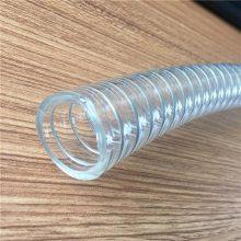 山东Tpu钢丝螺旋平滑管高耐磨防静电软管木工吸尘管价格厂家