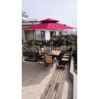 合肥外摆编藤家具、户外餐饮桌椅伞、露天餐饮太阳伞