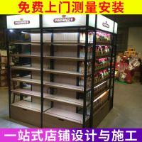 玻璃商品展示柜 包柱背柜商品柜台展柜货架 实木展示柜批发定制