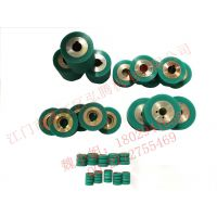 大量供应热风缝口密封机耐高温硅胶轮 65*25*19型号实芯胶轮 压胶机零配件
