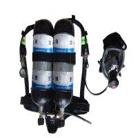 双瓶空气呼吸器 双瓶空气呼吸器用于抢险救援时对呼吸系统起保护的正压式空气呼吸器,配2只6.8L的30