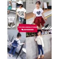 湖北武汉中档童装批发市场地址在哪里夏季厂家清仓特价便宜中高档童装短袖T恤套装一手货源
