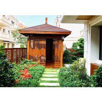 上海景观亭设计生产|实木凉亭架|印尼菠萝格亭子