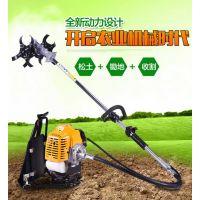 黑麦牧草修剪机 新型汽油背负式锄草机 手推式小型割草机