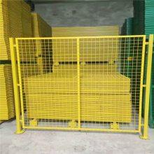 浸塑黄色车间隔离网 工厂护栏网 仓库隔断框架护栏网