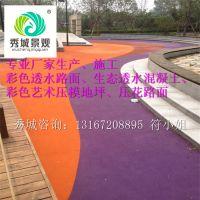 实力商家郴州市厂家直销彩色透水地坪水泥透水混凝土施工13167208895