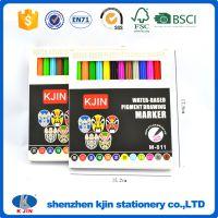 12色水彩笔 纸盒装学生办公记号笔/OEM文具礼品