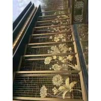 鸿尚宇不锈钢玫瑰金钛金工艺屏风厂家,仿古铜花格定制
