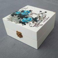 厂家生产定做木盒包装盒 创意丝印山水画仿古炫领长方形木盒木礼品盒