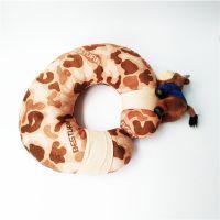 毛绒玩具U型颈枕 厂家创意设计生产变形颈枕汽车护颈枕可定制