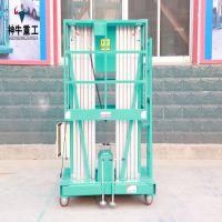 济南神牛重工高空作业平台双桅柱铝合金升降机