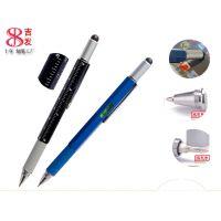 圆珠笔批发 水平仪笔 深圳触控笔 6合1多功能笔 手写笔