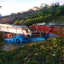 供应水面垃圾打捞船 收割水浮萍清除设备