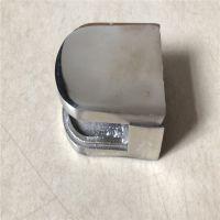 金裕 厂家直销 304不锈钢半圆玻璃夹 精铸浴室门玻璃夹