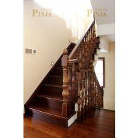 红橡楼梯踏板榉木立柱_同城楼梯预约测量_家装楼梯免费安装
