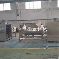 固体颗粒物料搅拌炒锅德尔厂家供应高粘度横轴搅拌炒锅