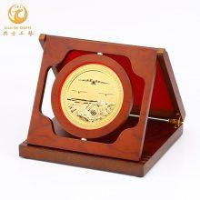 武汉武警退伍奖牌,消防战士退役纪念品,光荣退伍纪念礼品,纯铜老兵纪念盘