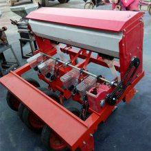 谷子施肥播种机 四行精播机 四轮车牵引式谷物播种机