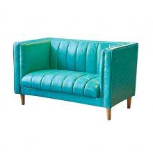 时尚撞色酒店扶手沙发定做,田园风舒适性好的双人卡座沙发
