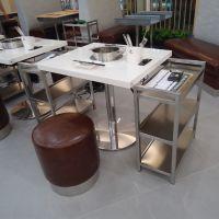 厂家定做批发大理石烧烤桌自助无烟烤涮一体桌 电磁炉火锅餐桌