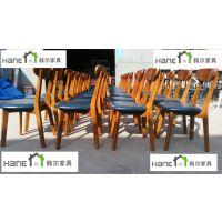 上海韩尔家具厂供应 滨江一号餐厅桌椅定制 简约餐桌椅定做