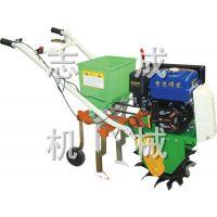 汽油链轨式耘播机 耘地除草旋耕机 农用双行施肥播种机